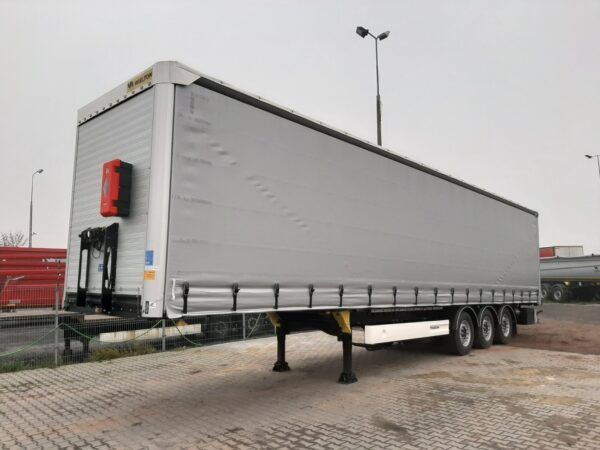 Wielton grey semi trailer